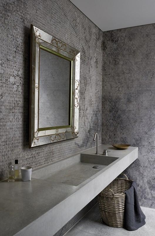 wohndesign borsch wasserdichte tapeten f r dusche und bad. Black Bedroom Furniture Sets. Home Design Ideas